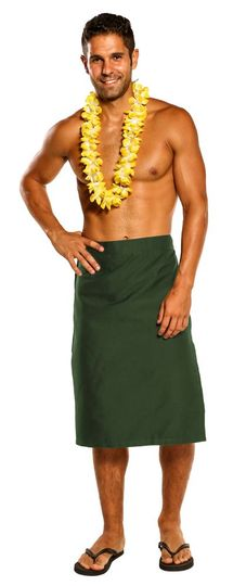 Mens Sulu Fijian Sarong in Army Green
