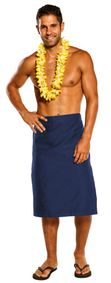 Mens Sulu Fijian Sarong in Blue