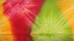 Mens Tie Dye Cover-Up Red, Yellow and Lime Green Sarong