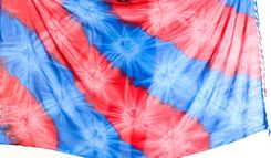 Mens Tie Dye Pareo Sarong in Blue and Red