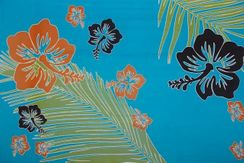 Mens Tropical Floral Sarong in Turquoise