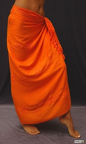 Orange Embroidered Sarong