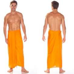 Orange Mens Sarong