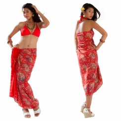 Paisley Sarong in Red
