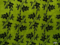 """Passion Fruit Floral Sarong """"Lime Green and Black"""""""
