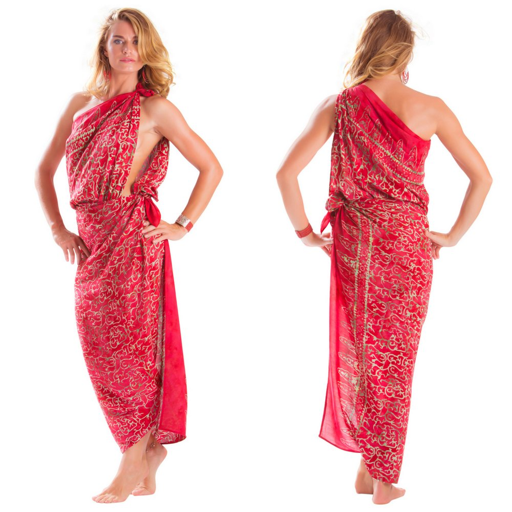 f262817db3 Plus Size Abstract Floral Sarong