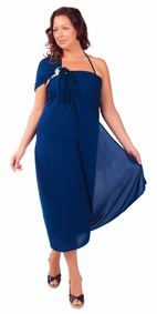"PLUS SIZE Sarong ""Navy Blue"""