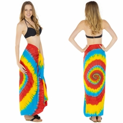 """Rainbow Swirl"" Sarong - Final Sale - No Returns"