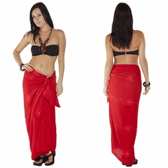 Red Embroidered Sarong
