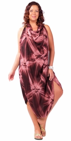 "Sarong ""Brown"" Smoked PLUS SIZE - Fringeless Sarong"