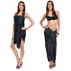"Sarong ""Charcoal Gray"" Smoked"