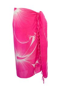Sarong for Men Big Hibiscus Floral Sarong in Pink