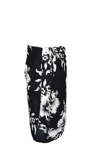 Sarong for Men Hanalei Floral Sarong in Black/White