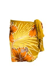 Sarong for Men Hawaiian Floral Sarong in Browns