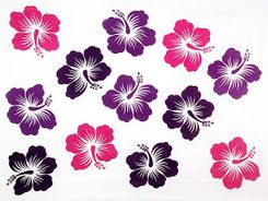 Sarong for Men Hawaiian Sarong in Purple/Pink/White