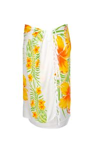 Sarong for Men Hawaiian Sarong in Yellow/Green/White
