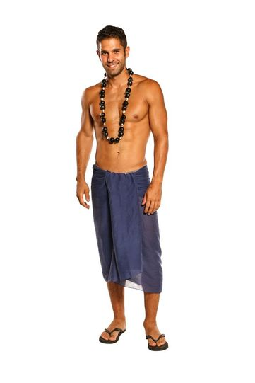 Sarong for Men Light Weight Cotton Sarong in Navy Blue - Fringeless Sarong - Final Sale - No Returns