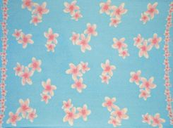 Sarong for Men Plumeria Sarong in Light Turquoise/Pink