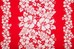 Sarong for Men Triple Lei Sarong in Red/White - Call to Order