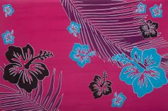 Sarong for Men Tropical Floral Sarong in Hot Pink