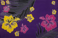 Sarong for Men Tropical Floral Sarong in Purple