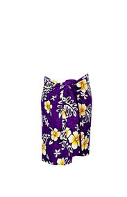 Sarong for Men Vivid Hibiscus Flower Sarong in Purple
