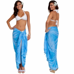 "Sarong ""Light Blue"" Smoked"