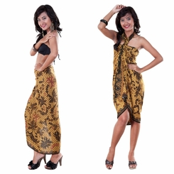 Sarong With Traditional Motif Brown