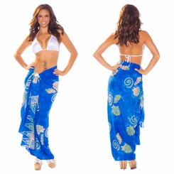 "Seashell Sarong ""Blues"""