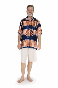 Shirt Casual Jungle Brown Button Down Short Sleeve Boys Beach Shirt