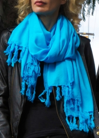 Solid Color Double Width Scarf, Wrap or Shawl - in your choice of colors