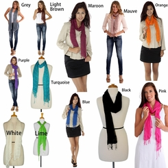 Solid Colored Gauze Scarves