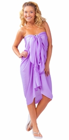 Solid Lavender FRINGELESS Sarong - Final Sale - No Returns