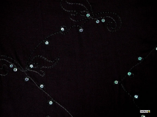 Solid Sequined & Embroidered Double Width Scarf, Wrap or Shawl - in your choice of colors