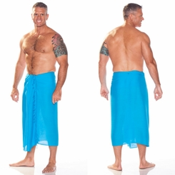 Solid Turquoise Mens Solid Sarong