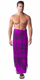 "Tattoo Mens Sarong ""Royal Purple"""