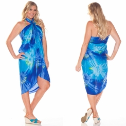 Tie Dye Sarong in Blue and Turquoise - Call to Order