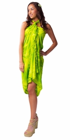 Tie Dye Sarong in Lime Green
