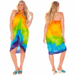 Tie Dye Sarong in Rainbow