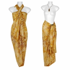 "Tiny Leaves Sarong ""Beige / Tan"""