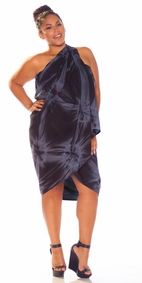 Top Quality Smoked Sarong in Charcoal Gray