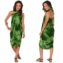 Top Quality Smoked Sarong in Dark Green