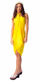 Top Quality Smoked Sarong in Yellow - Final Sale - No Returns