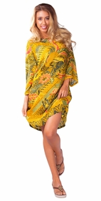 "Traditional Tunic Cover-Up ""Phoenix"" Batik - Final Sale - No Returns"