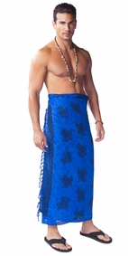 Turtles Mens Sarong Blue/Black