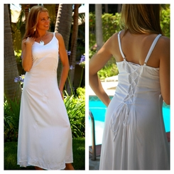 White Sequined Long Summer Dress - Final Sale - No Returns