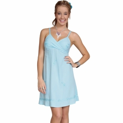Womens Mini Dress / Short Dress - Light Turquoise - Final Sale - No Returns