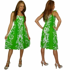Womens Tube Top Sundress in Lime Green