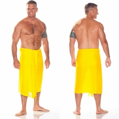 Yellow Mens Sarong