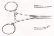 "HARTMAN Mosquito Forceps, 3-1/2"" (8.9 cm), curved"